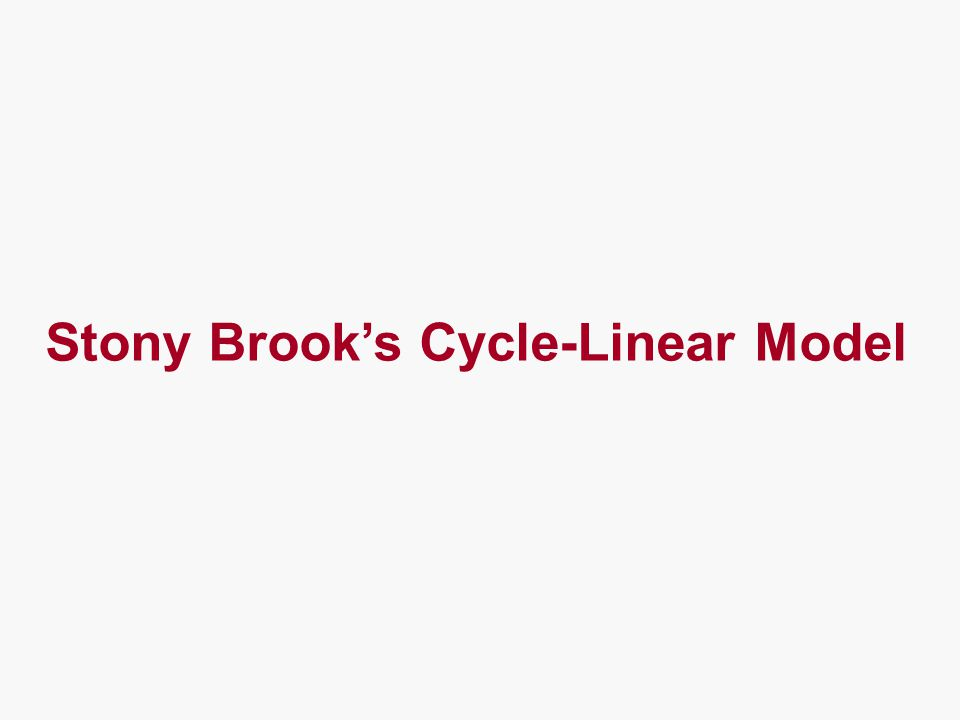 Stony Brook's Cycle-Linear Model
