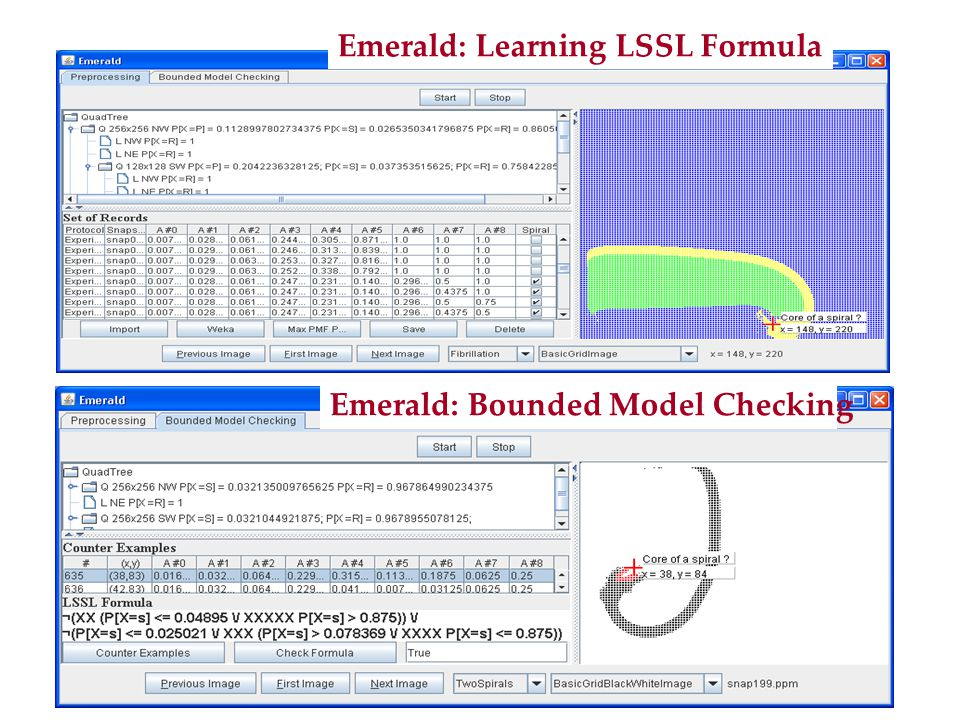 Emerald: Learning LSSL Formula Emerald: Bounded Model Checking