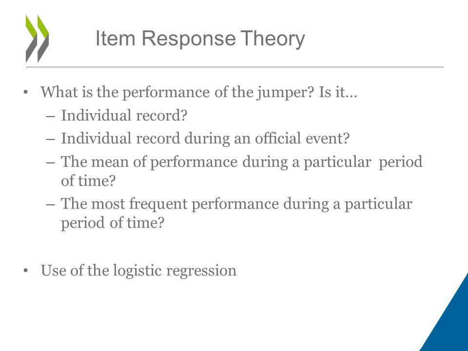 Rasch Item Response Theory