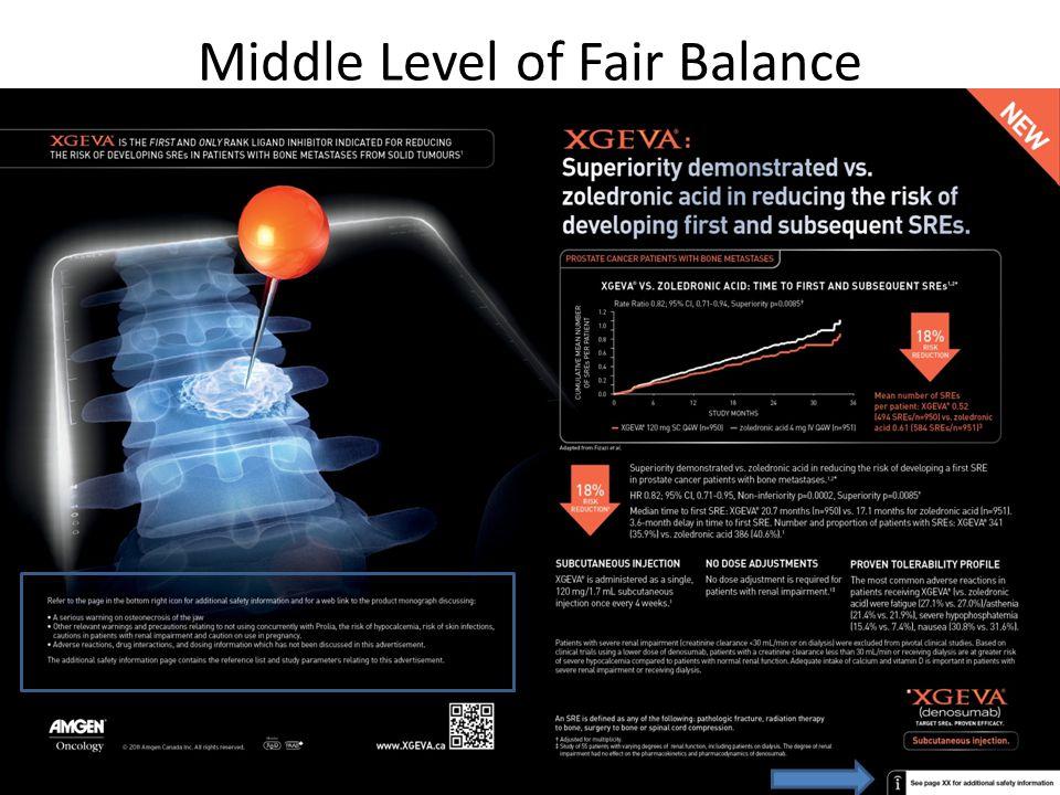 Middle Level of Fair Balance 41