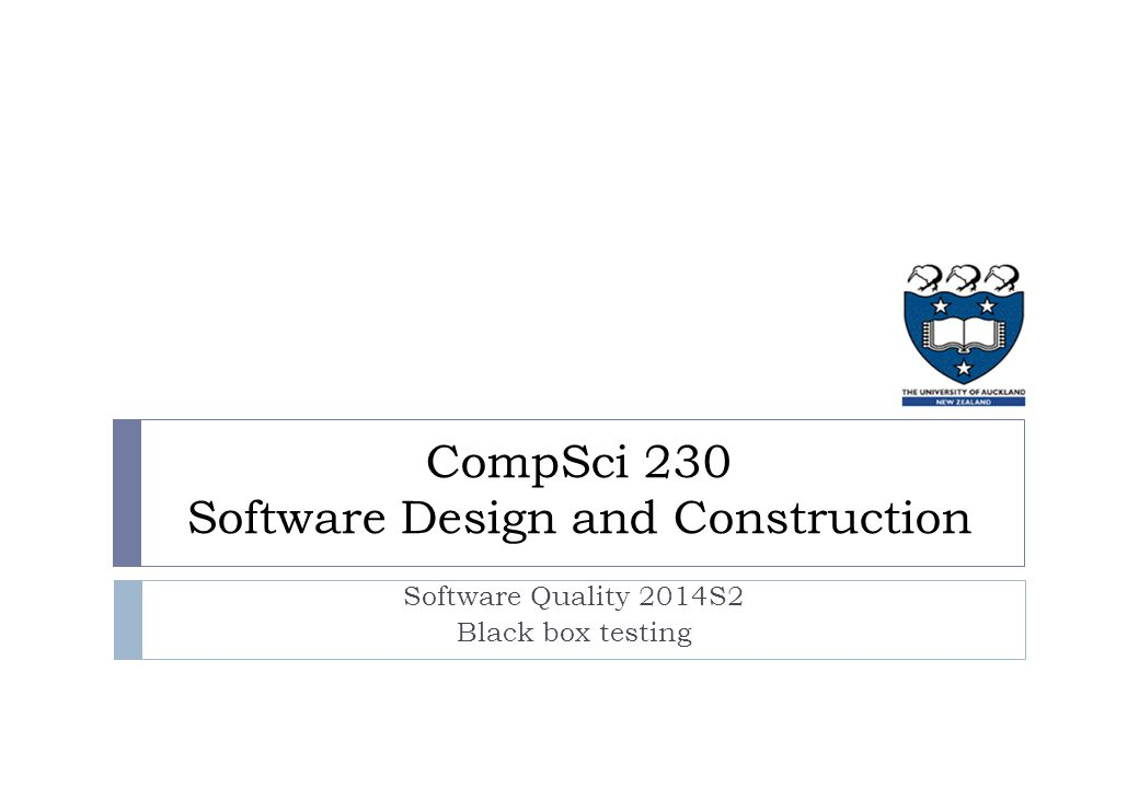 Lecture plan Week 1: What is software quality.