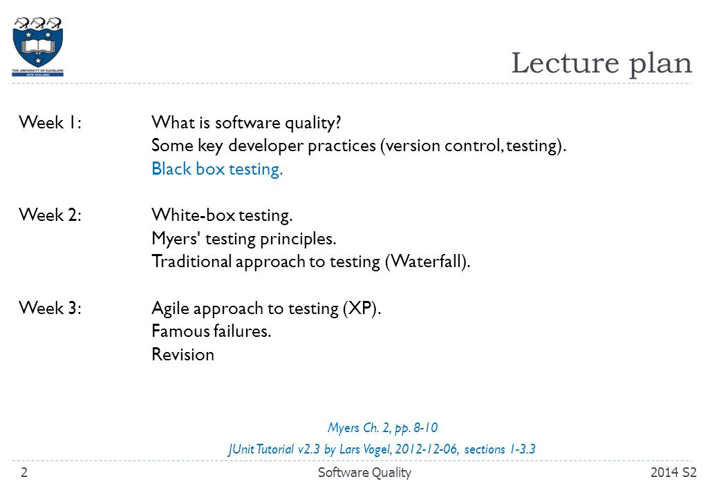 Learning Goals for Today  Develop a working understanding of Myers' theory of the economics of software testing.