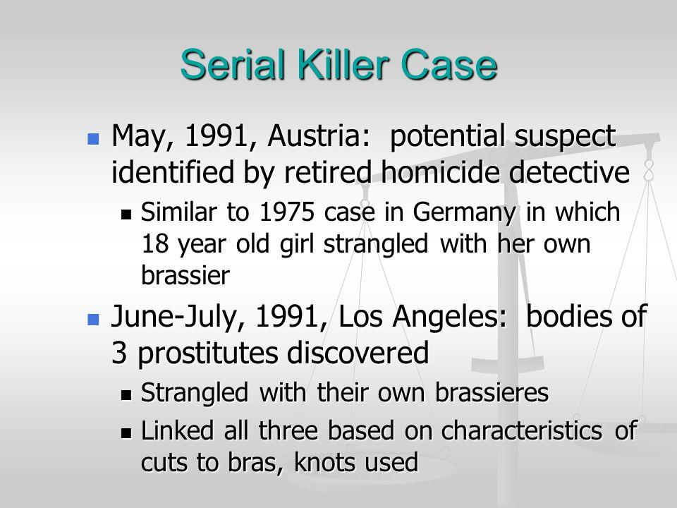 Serial Killer Case Sept. 15, 1990, Prague: woman found strangled, apparently sexually assaulted Sept. 15, 1990, Prague: woman found strangled, apparen