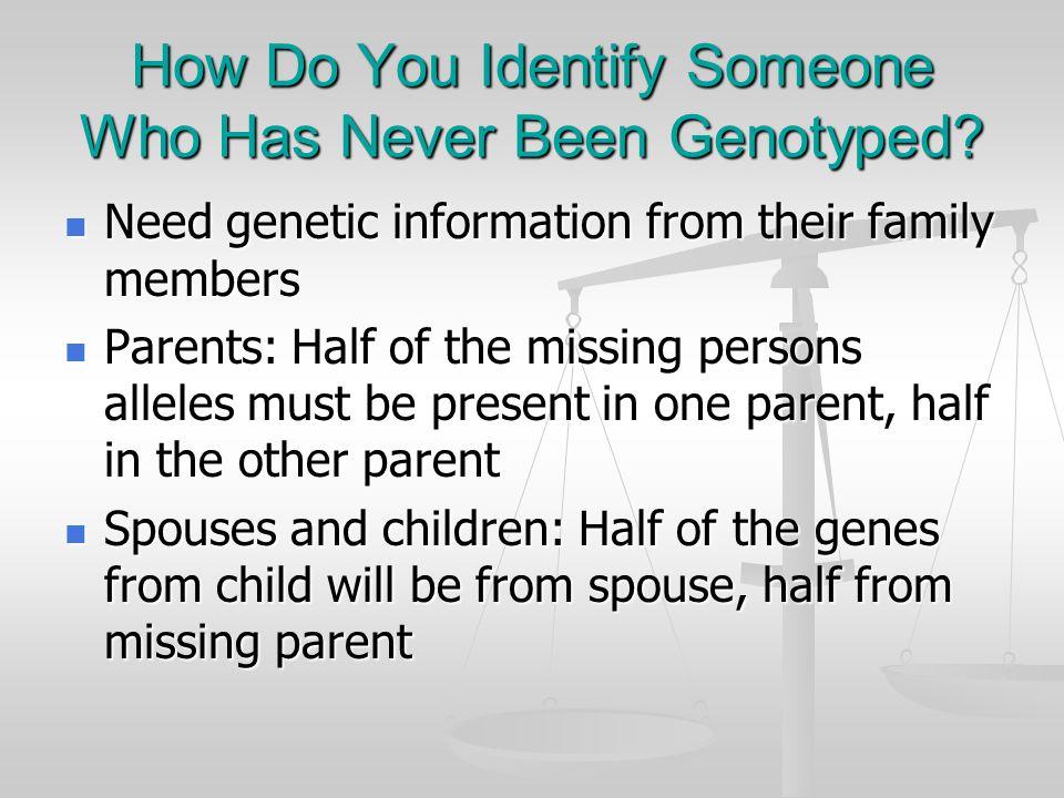 DNA Profile Warrant