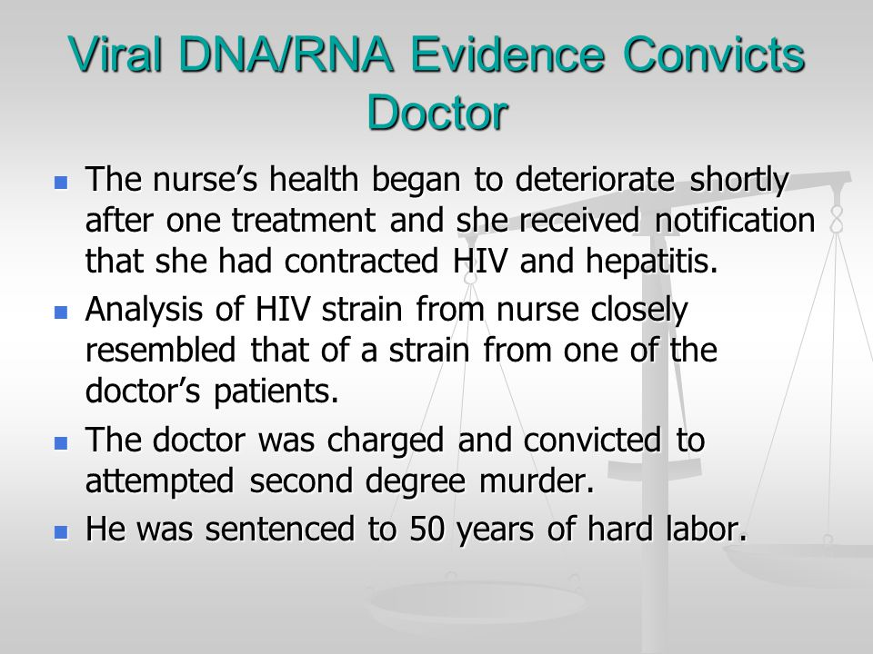 Viral DNA/RNA Evidence Convicts Doctor Dr.