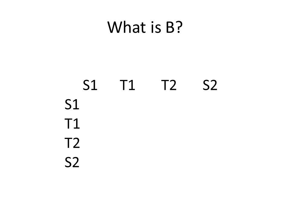 What is B S1 T1 T2 S2 S1 T1 T2 S2