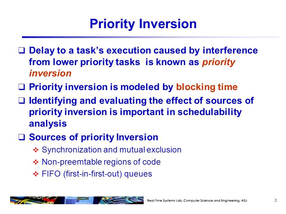 Highest Locker's Priority Protocol  2 :{…P(S1)…V(S1)…}  4 :{…P(S1)…V(S1)…} ready S1 lockedS1 unlocked  1 (H)  4 (L) 22 33 B B run with the priority of  2 34