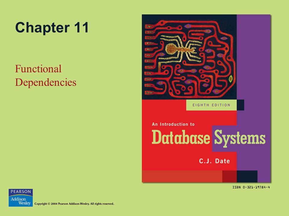Chapter 11 Functional Dependencies