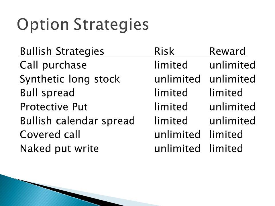 Short out of money put Long out of money call example (Bullish Strike Split) price = 53 Jan50P = 2 Jan60C = 1 BE = 48