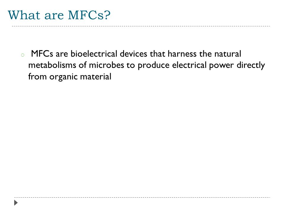 What are MFCs.