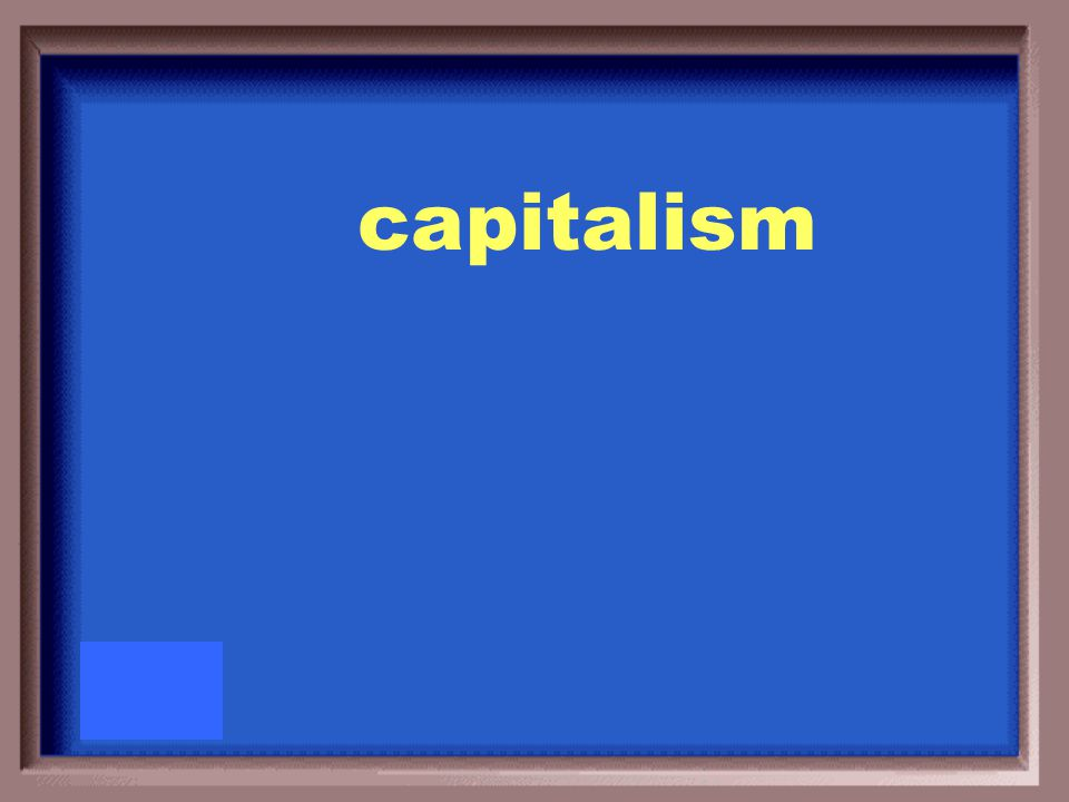 The economic system in which all businesses are privately owned is called