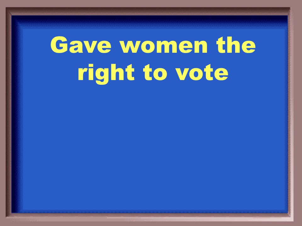 What was the 19 th Amendment to the Constitution