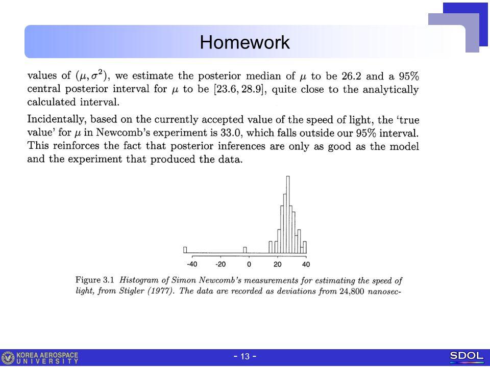 - 13 - Homework