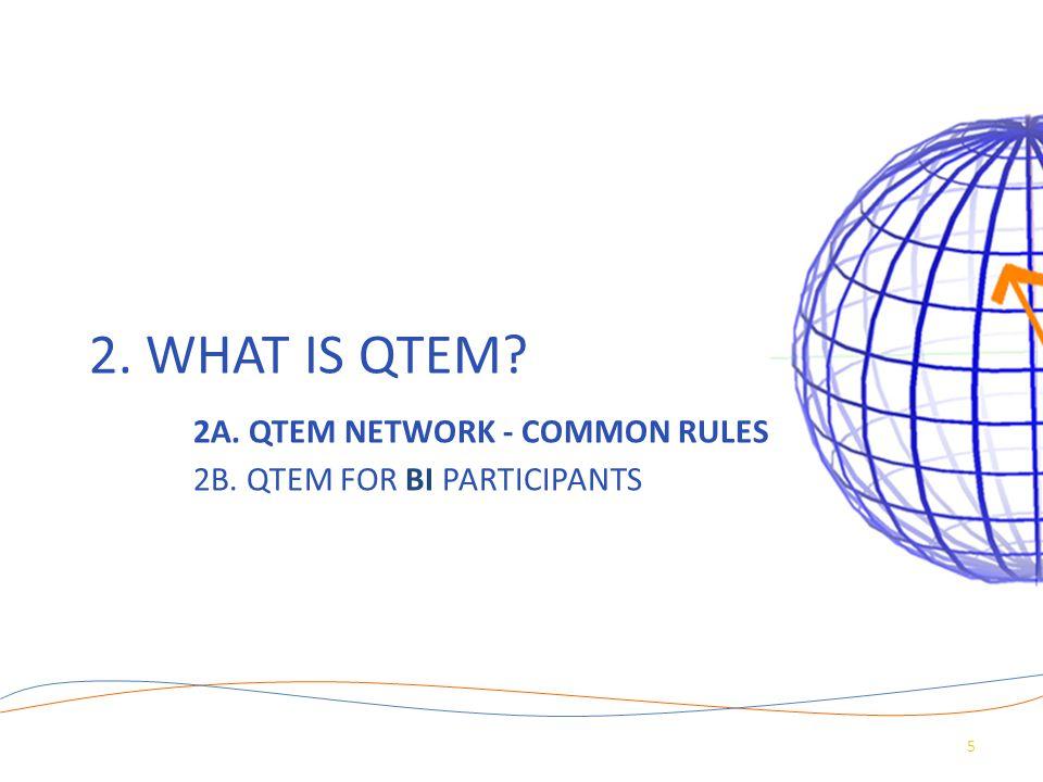 2. WHAT IS QTEM? 2A. QTEM NETWORK - COMMON RULES 2B. QTEM FOR BI PARTICIPANTS 5
