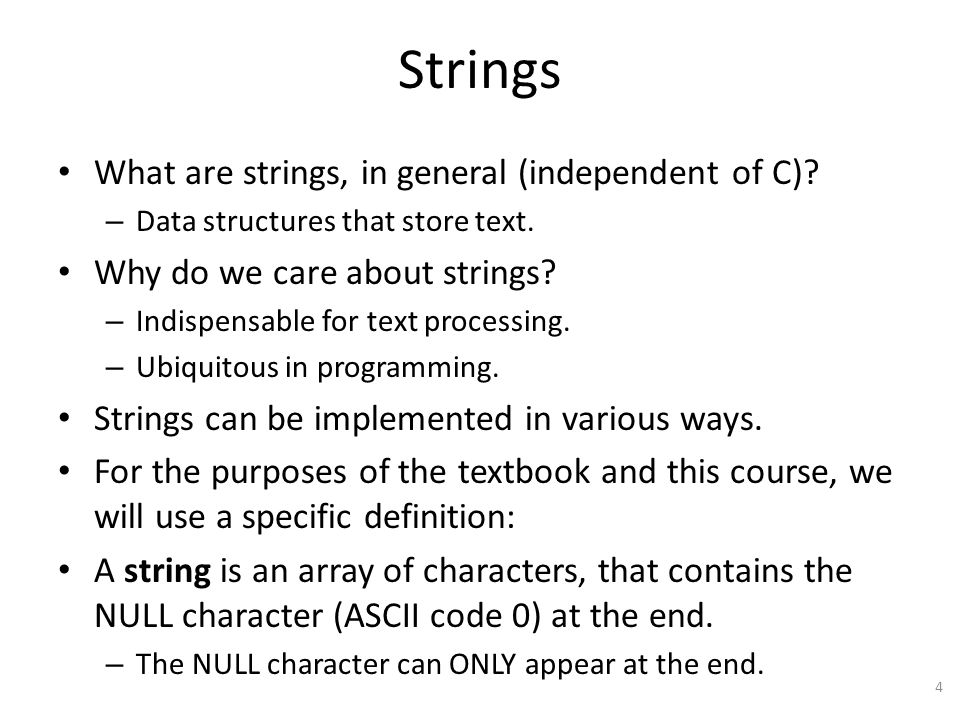Limitations of Definition Our definition of strings is limited.