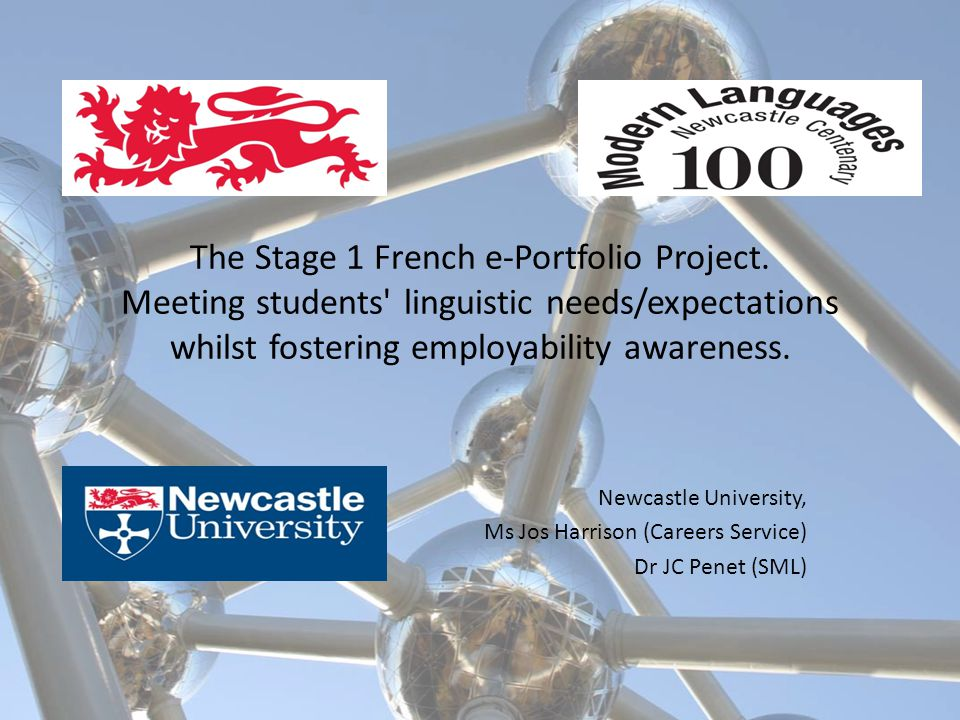 The Stage 1 French e-Portfolio Project.