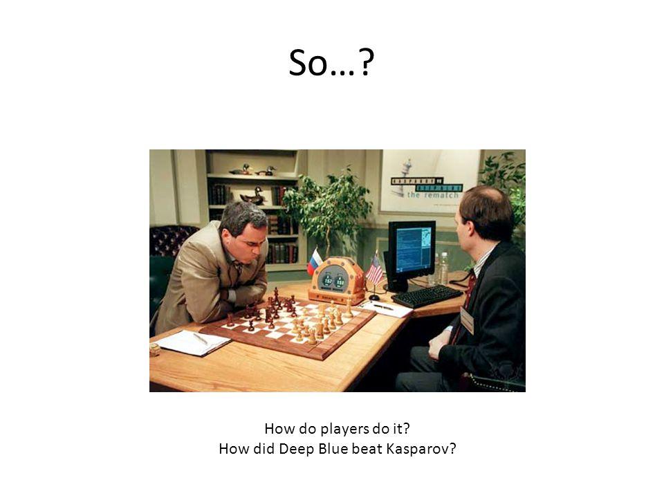 So…? How do players do it? How did Deep Blue beat Kasparov?