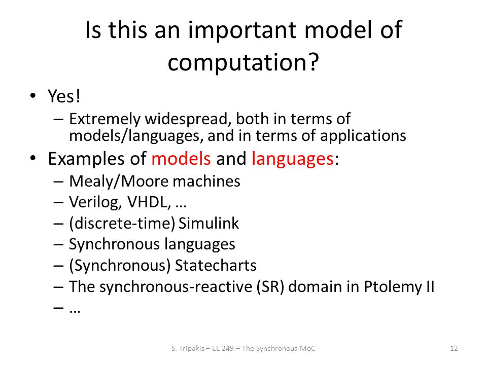 Is this an important model of computation. Yes.