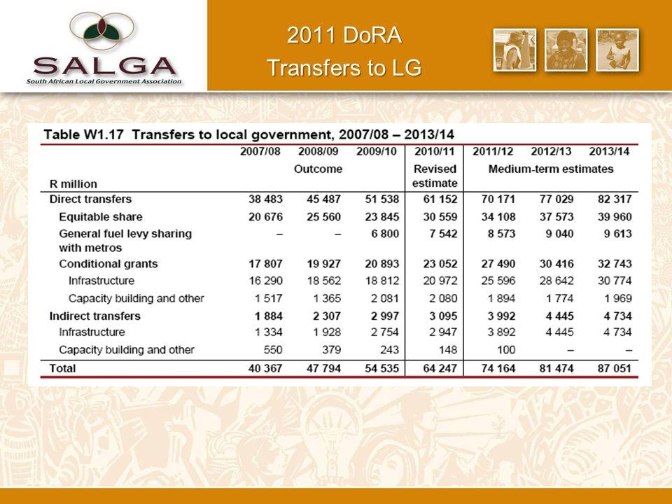 2011 DoRA Transfers to LG