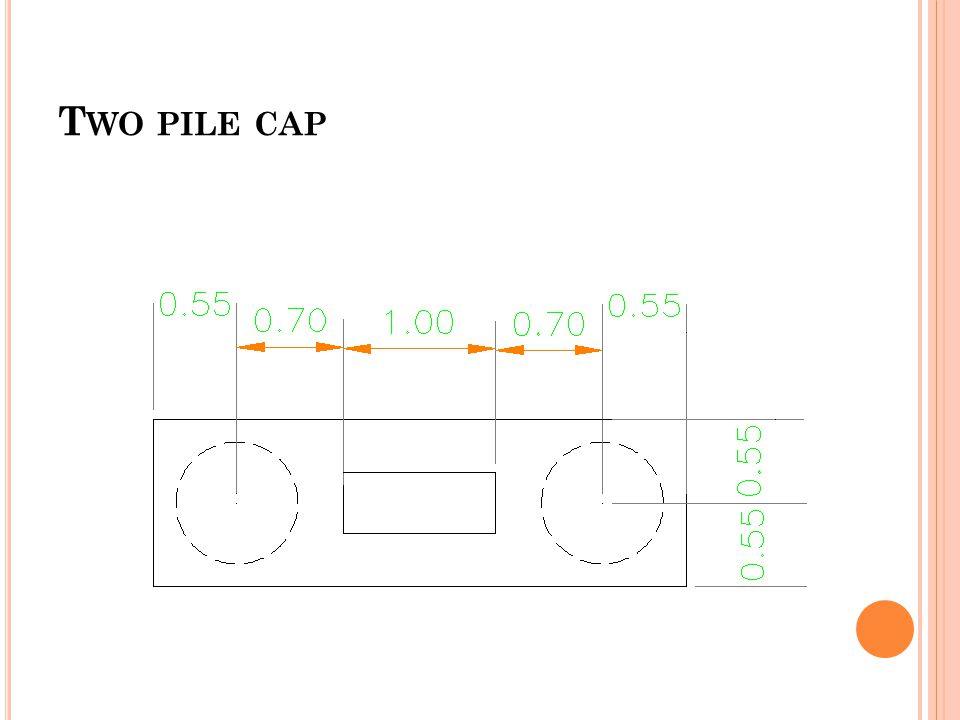 T WO PILE CAP
