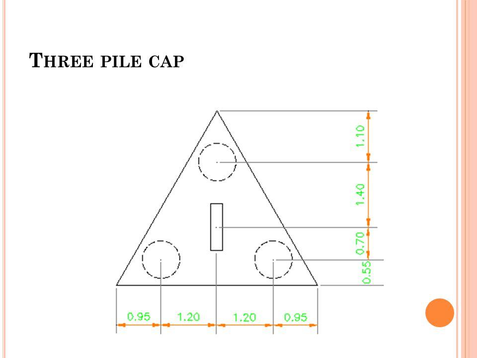 T HREE PILE CAP