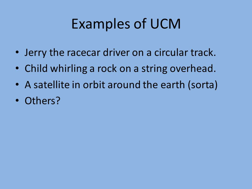 UCM speed example The wheel of a car has a radius of 0.29m and is rotating at 830 rpm on a tire-balancing machine.
