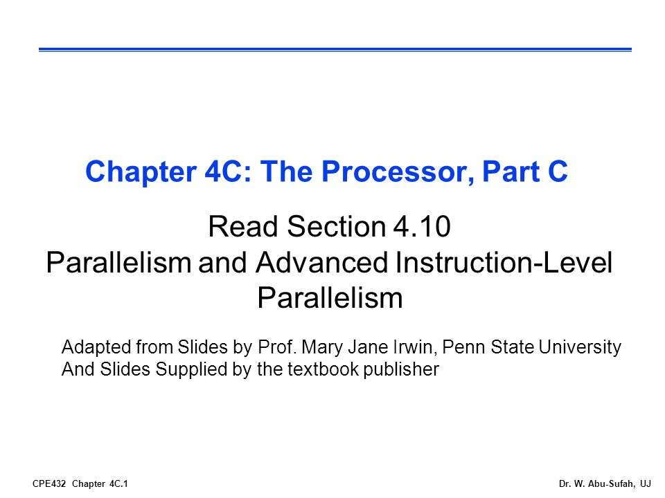 CPE432 Chapter 4C.2Dr.W.