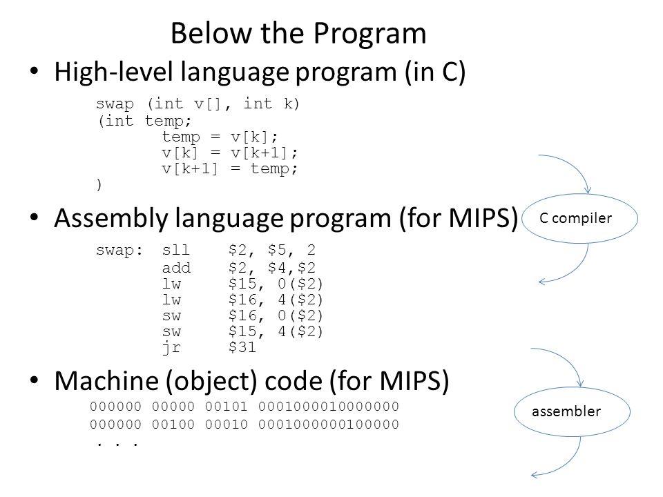Load/Store Instruction Format (I format): lw $t0, 24($s2) Machine Language - Load Instruction op rs rt 16 bit offset Memory dataword address (hex) 0x00000000 0x00000004 0x00000008 0x0000000c 0xf f f f f f f f $s2 0x12004094 24 10 + $s2 =...