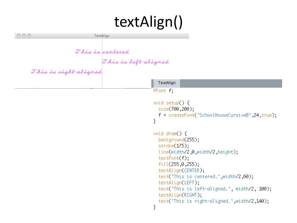 textAlign()