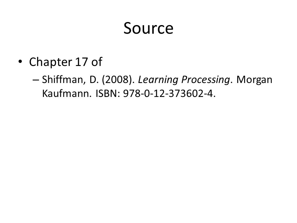 Source Chapter 17 of – Shiffman, D. (2008). Learning Processing. Morgan Kaufmann. ISBN: 978-0-12-373602-4.