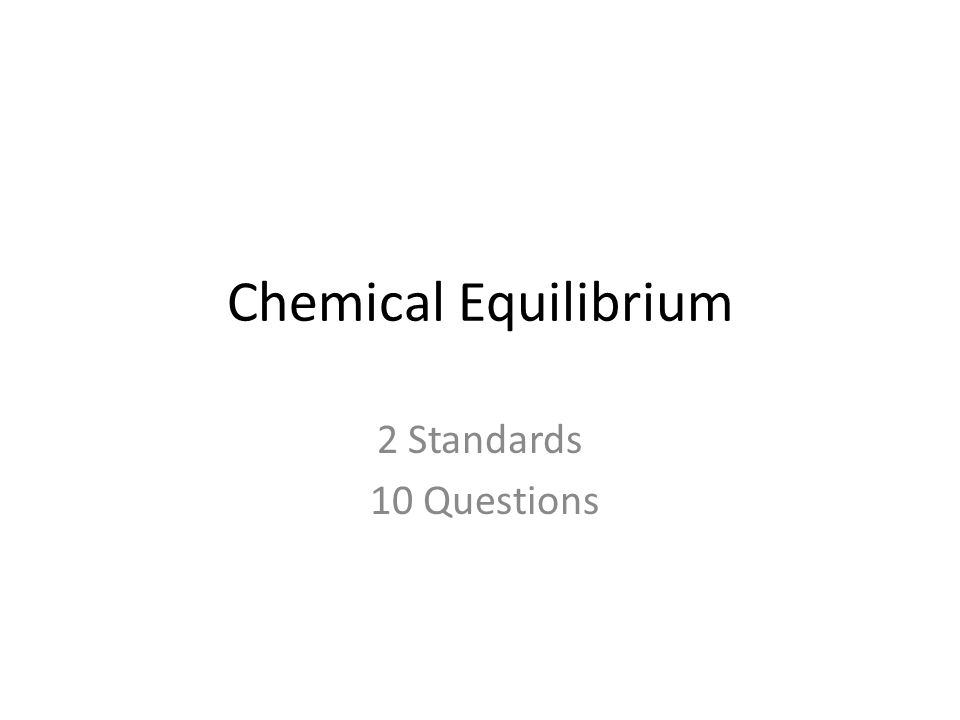 Biochemistry and Organic Chemistry 2 Standards 10 Questions