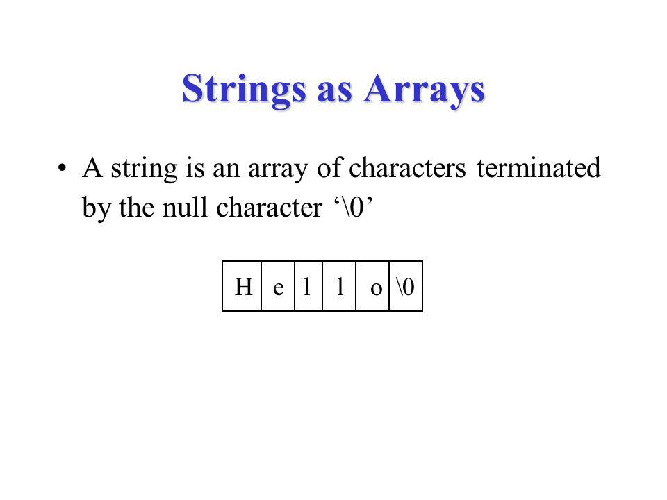 strncat void strncat(char dst[], char src[], int n) { int i, j; for (i = 0; dst[i] != '\0'; i++) ; for (j = 0; src[j] != '\0' && j < n; j++, i++) { dst[i] = src[j]; } for (; j < n; j++, i++) { dst[i] = '\0'; }