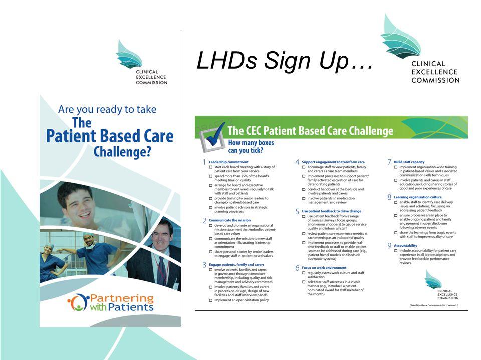 LHDs Sign Up…