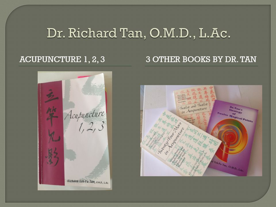 ACUPUNCTURE 1, 2, 33 OTHER BOOKS BY DR. TAN