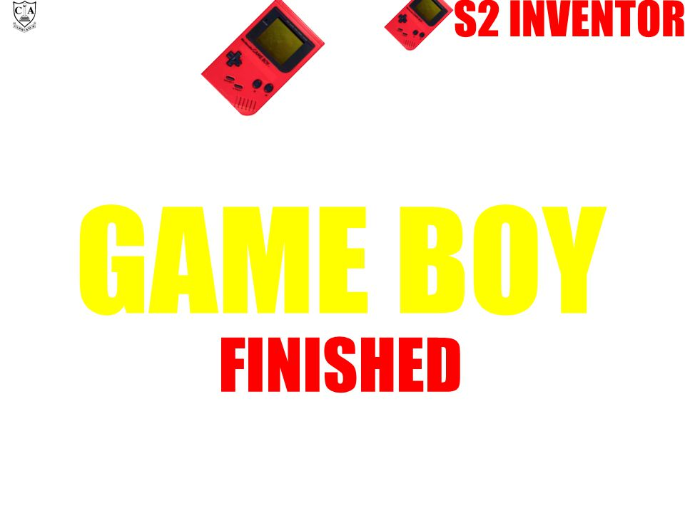 S2 INVENTOR GAME BOY FINISHED