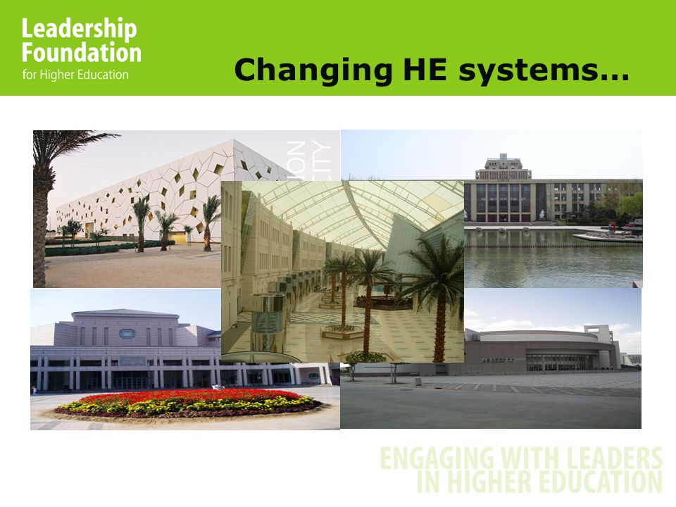 Changing HE systems…