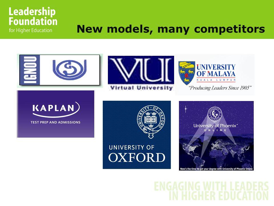 New models, many competitors