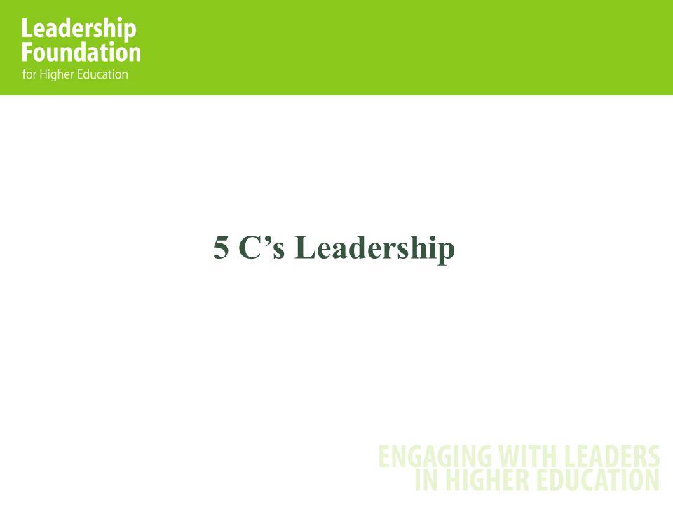 5 C's Leadership