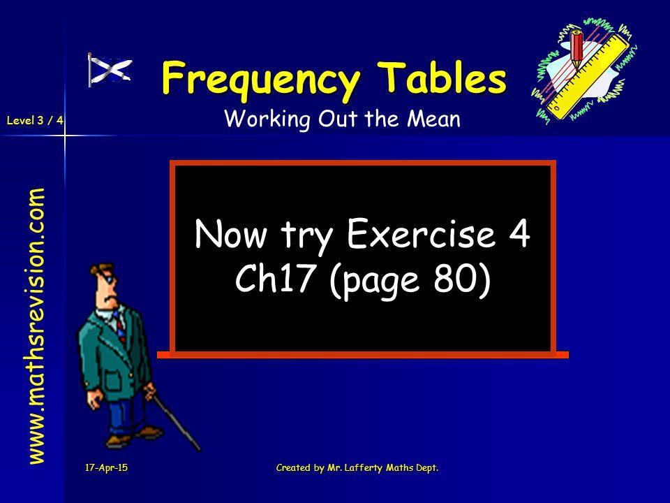 Level 3 / 4 17-Apr-15Created by Mr. Lafferty Maths Dept.
