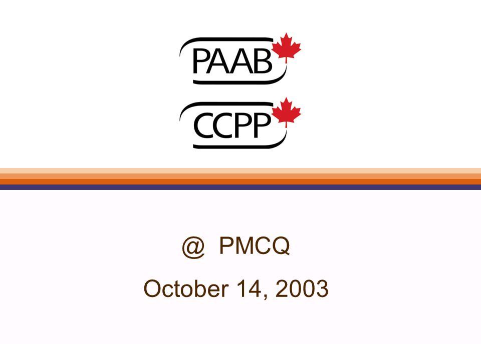 @ PMCQ October 14, 2003
