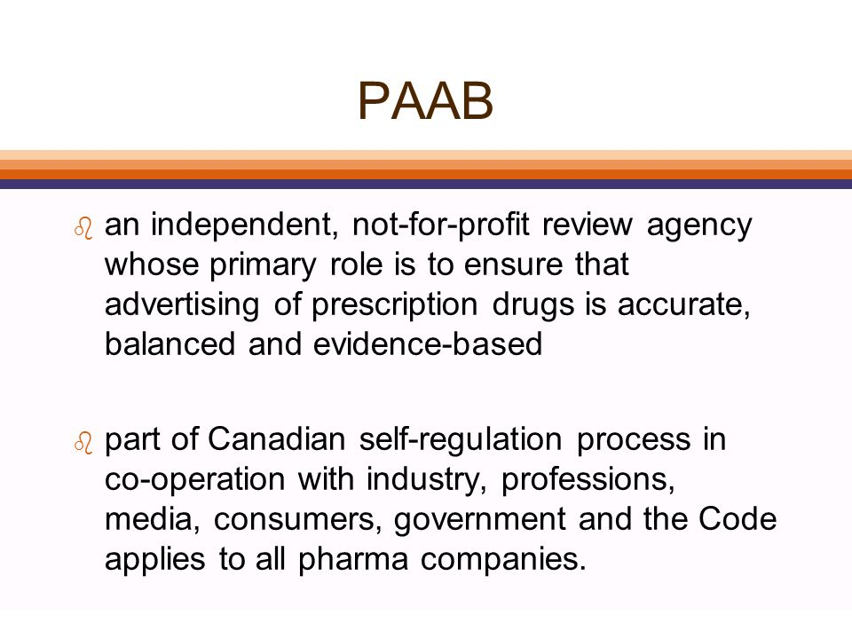 Agenda l What is the PAAB? l Common Review Issues l Current Initiatives