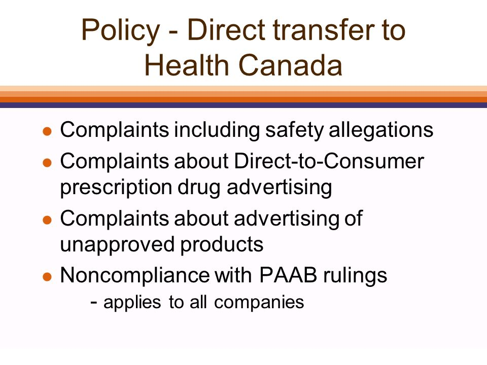 Rx&D l A violation of the PAAB Code is a violation of the Rx&D Code l PAAB Commissioner is a voting member of the Marketing Practices Review Committee