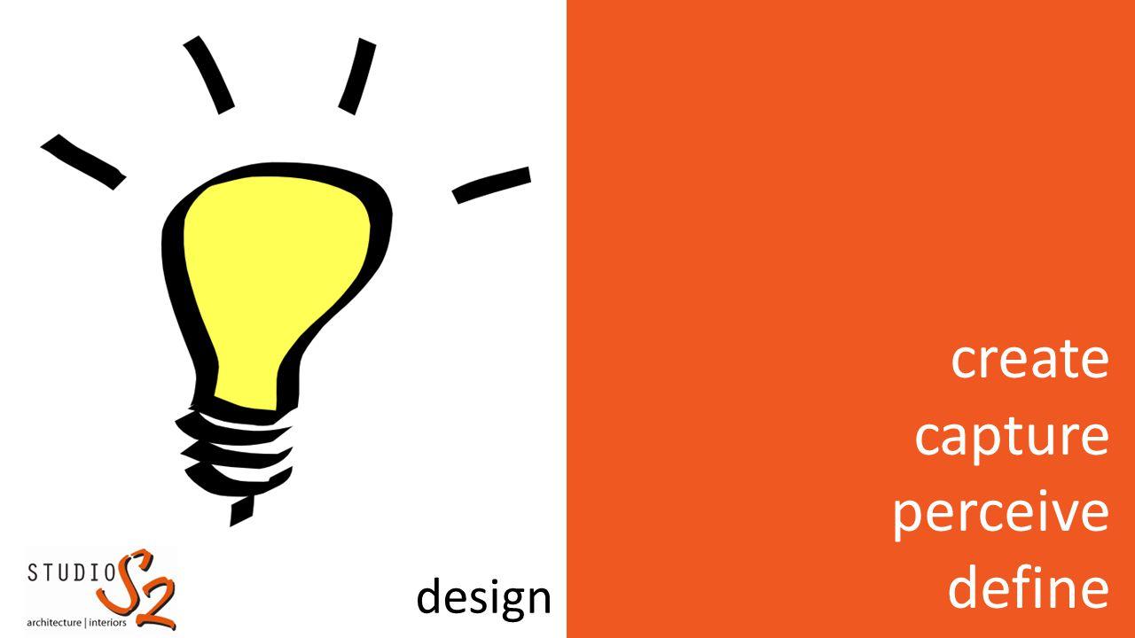 create capture perceive define design