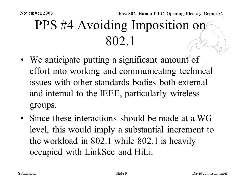 doc.: 802_Handoff_EC_Opening_Plenary_Report r2 Submission November.
