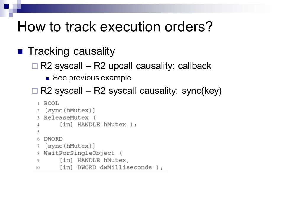 How to track execution orders.