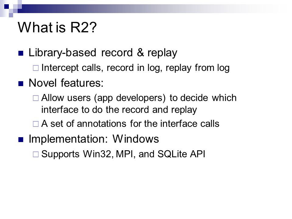 What is R2.