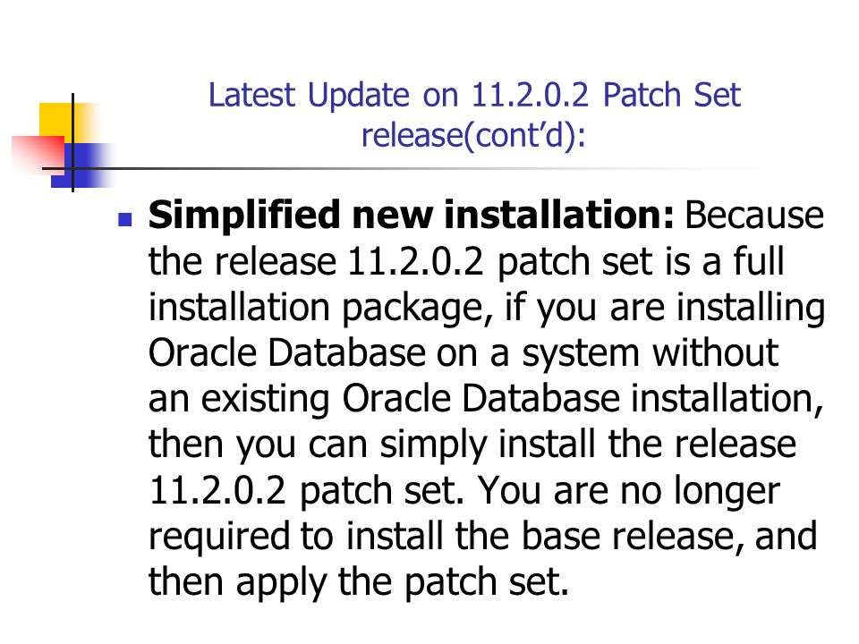 Important Notes and Documentation for 11g R2 Upgrade: Note: 881505.1 Note: 216205.1 Oracle Database Upgrade Guide 11g Release 2 (11.2) – E17222-04 These documents are pretty stable with multiple successful 11g R2 upgrades completed by many customers