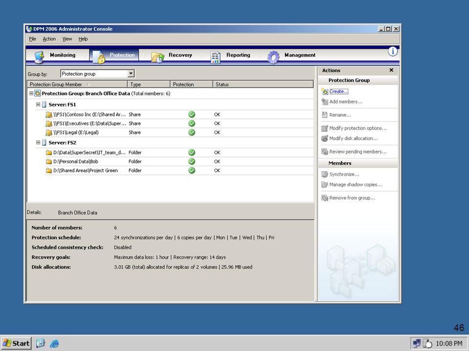 47 DPM Walkthru Task : End-User Restore from Windows Explorer