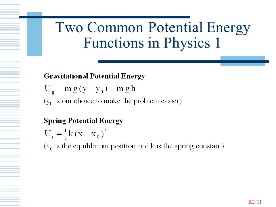 R2-11 Two Common Potential Energy Functions in Physics 1