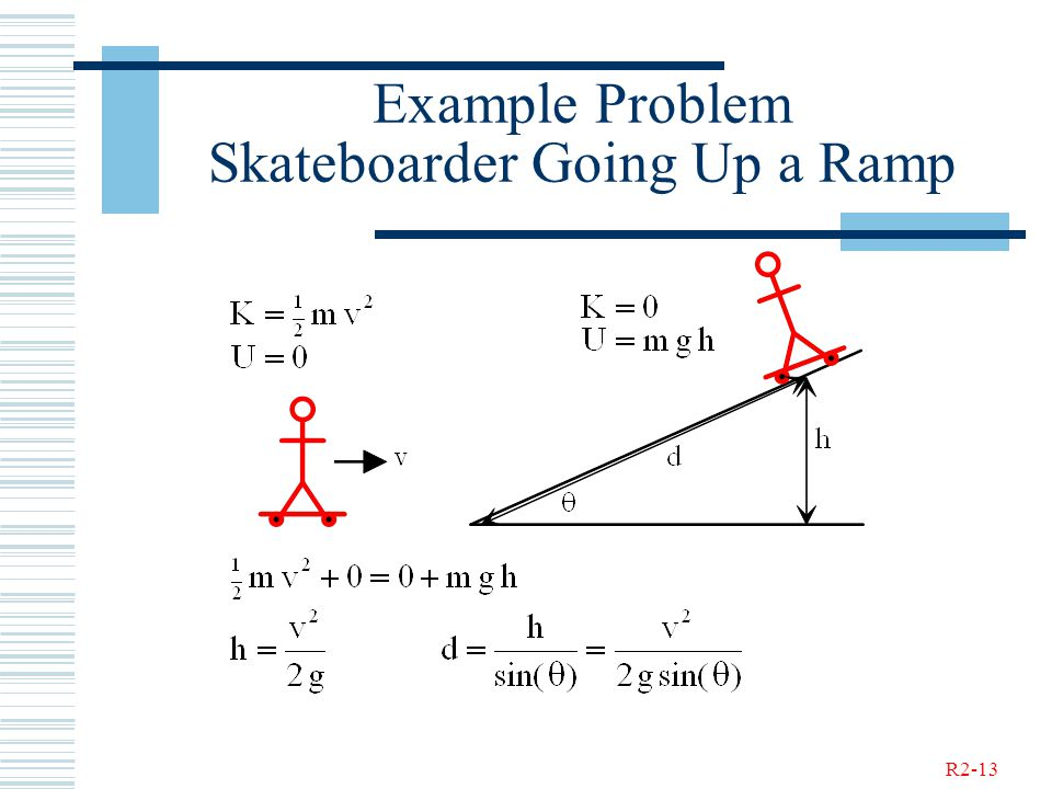 R2-13 Example Problem Skateboarder Going Up a Ramp